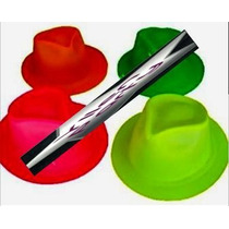 10 Sombreros Gangster Neon Varios Colores