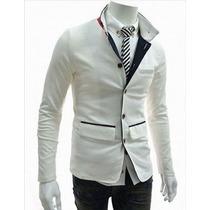 Saco Blazer Juvenil Casual Hombre Slim Fit Moda Elegante