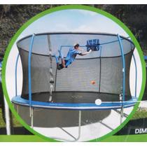 Trampolin Jumbo 4.57 Mts Brincolin Con Canasta De Basquetbol