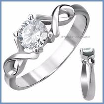 Anillo De Compromiso Diamante Natural .20ct Oro 10k -50% 003