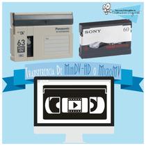 Transferencia Micro Mv Sony Micromv Minidv Hd Archivo O Dvd