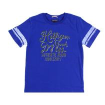 Playera Tommy Hilfiger Talla 3 Niño Logo Y Marca Casual Azul