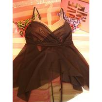 Victorias Secret Top Gasa Playa Blusa Sz L