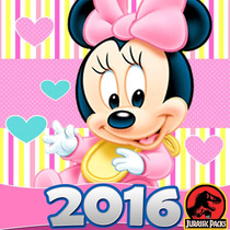 Minnie Mouse Baby Kit Imprimible Mimi Bebe Invitaciones 2016