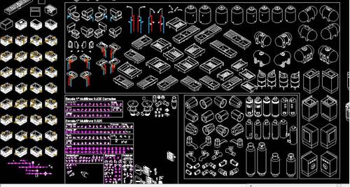Bloques para autocad en formato dwg planos a mxn 300 en for Muebles de oficina en autocad 3d gratis