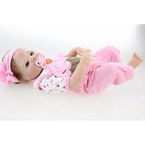 Bebé Reborn Muy Real Full Silicona Se Puede Bañar 23 Pulgada