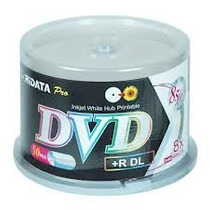 50 Dvd+r Dl Ridata Double Layer Cap 8.5 Gb Blanco Imprimible