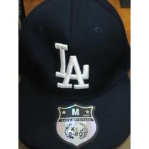 Gorra Negra K&d Boy-styles La Dodgers Talla M Ajustable
