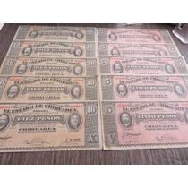 Billete Chuhuahua 5 Y 10 Pesos 1914 Par De Billetazos