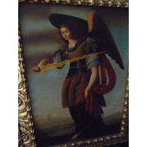 Pintura San Uriel Óleo Sobre Tela Mide 50x70 Cm