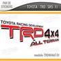 2 Vinilos, Stickers, Calcas, Toyota Trd Para Tacoma, Tundra