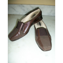 Zapatos D Meter Color Cafe 3.5 Mex. Pluma 100% Originales