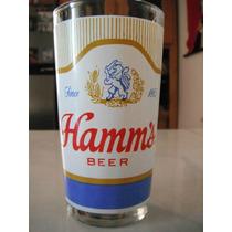 Vaso Cerveza Hamms Beer Americano Retro Vintage Cantina Bar