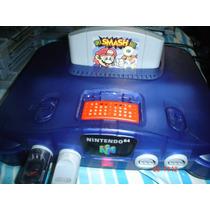 Nintendo 64 Consola Traslucida+2 Control Color+4juegos Y Mas