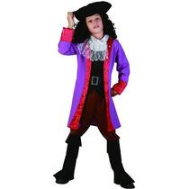Traje Pirata - Jack Sparrow Capitán Garfio Fantasía Del Niño
