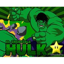 Invitaciones El Increible Hulk Diseñá Tarjetas, Cumples