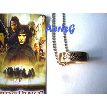 Arg Increible Collar Anillo Hobbit Señor De Los Anillos Fdp