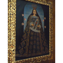 Pintura Virgen De Belén Óleo Sobre Tela Mide 60x90cm
