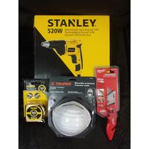 Combo Para Tablarroca Con Stanley Stdr5206 Y Navaja Milwauke