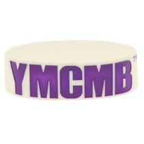 Hot Topic Muñequera Pulsera Ymcmb Purple Logo Rubber Bracele
