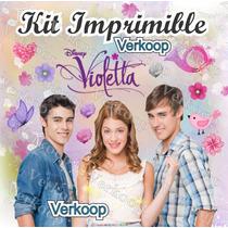 Kit Imprimible Violetta De Disney Marcos Frames Tarjetas