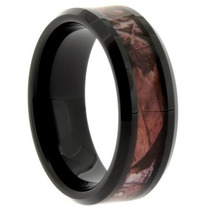 Tb Anillo Gay 8mm Comfort Fit Tungsten Ring With Rich Brown