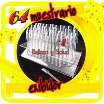 Muestrario Exhibidor De 64 Uñas Tips Decoracion Acrilico