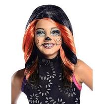 Rubíes Niñas Monster High Skelita Calaveras Disfraz Peluca N