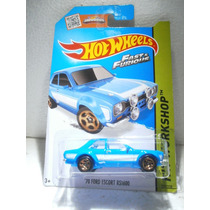 Hot Wheels 70 Ford Escort Rs1600 Azul 221/250 2015