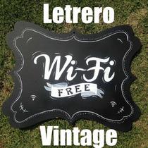Letrero Vintage Cafetería Restaurante Wifi Retro Cartel