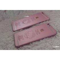 Carcasa Tapa Iphone 5, 6 , 6 Plus Oro 24k Hello Kitty