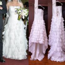 Vestido De Novia Usado Talla 8-10 Incluye Velo Largo Y Corto