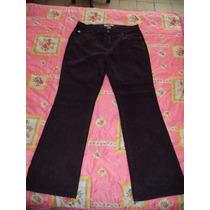 Pantalon Casual D Pana Dupler Color Uva Dama T 16 44 Nuevo
