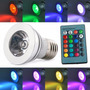 Lampara Foco Led Multicolor 3w Con Control Remoto