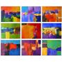 9 Pintura Acrílica Sobre Tela Color Blast 50x40x2cm Cada Uno