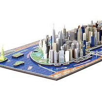 Rompecabezas 4d New York Skyline - Time Puzzle -3 Niveles