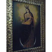 Pintura Inmaculada Óleo Sobre Tela Mide 60x90 Cm