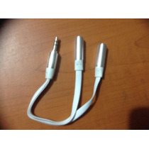 Adaptador Audio Plug 3.5 Macho A 2 Hembra 3.5 Comparte Music