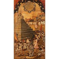 Lienzo Tela Tabla 13 De 22 Conquista Imperio Azteca 90 X 50
