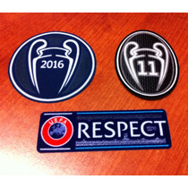 Parches Champions League, Supercopa, Real Madrid, Barcelona