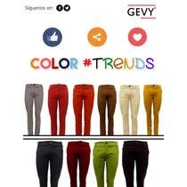 Pantalón Gabardina Chino Strech Varios Colores Gevy Jeans
