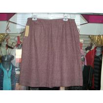 Falda D Vestir Estampado Pata D Gallo Nueva Etiquetada 12-38