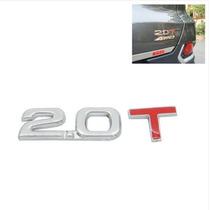Decalque De Metal Cromado 3d 2.0t Para Carro