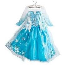 Vestido Frozen Elsa Clasico Americanos No Disney