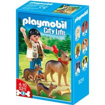 Playmobil 5211 Pastor Alemán Con Cachorros