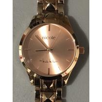 Reloj Dama Nicole Miller Rose Gold Nuevo Envío Gratis #116