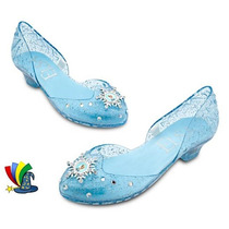 Zapatos Zapatillas Disfraz Elsa Frozen Disney Store Con Luz