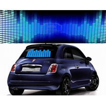 Sticker Led Audio-rítmico Azul, Rojo, Y Multi, Dj, Auto, Mmu