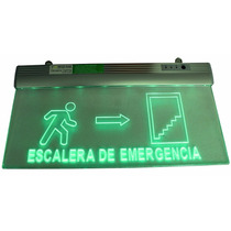 Letrero Led Luminoso Escalera Con Luz Emergencia