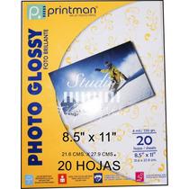 Papel Fotográfico Printman Glossy (foto Brillante) 8.5 X 11